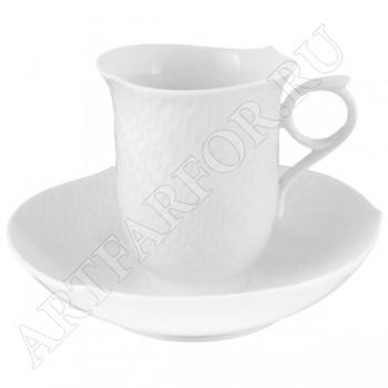 """Кофейная чашка с блюдцем """"Игра волн"""""""