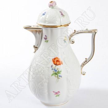 """Кофейный Сервиз 6пер. """"Цветы"""" Meissen 040110-c21"""