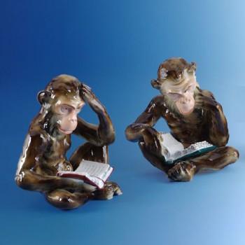 "Фигурки ""Читающая обезьяна"""