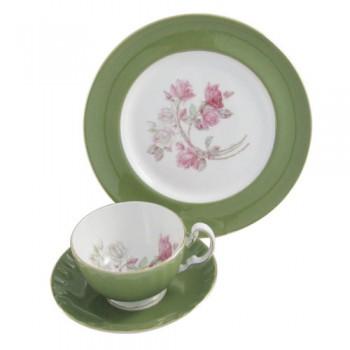 Набор чайный (чашка с блюдцем и тарелка) 3054 mill