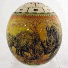 Декоративное страусиное яйцо