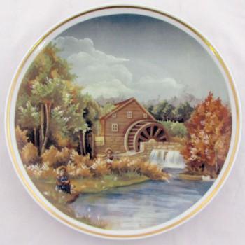 Настенная тарелка Деревенский пейзаж