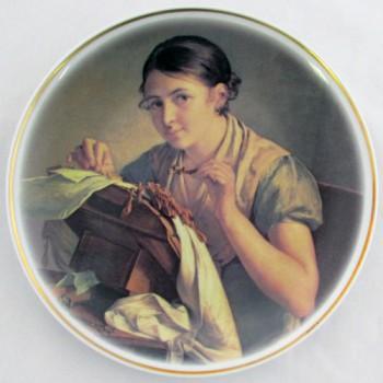 Настенная тарелка Кружевница