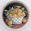 Настенная тарелка Фрукты в корзине