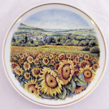 Настенная тарелка Полевые цветы