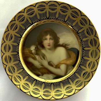 Декоративная тарелка Дама с барашком