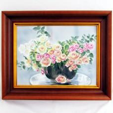 Картина Цветы в вазе в деревянном багете