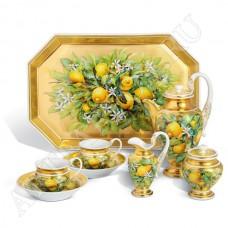 """Кофейный тет-а-тет """"Лимонные цветы""""."""