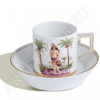 """Чашка с блюдцем """"Очарование Африки"""""""