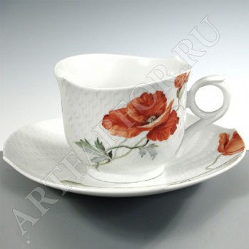 Чашка с блюдцем для завтрака