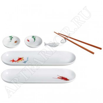 Фарфоровый набор для суши