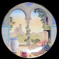 """Настенные тарелки """"Вино на окне"""""""