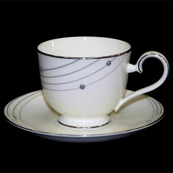Чайная чашка и блюдце