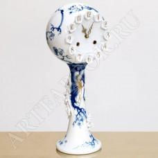 """Часы с росписью """"Голубая орхидея"""""""