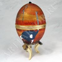 Декоративное музыкальное страусиное яйцо