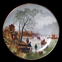 """Настенные тарелки """"Зимняя природа"""""""