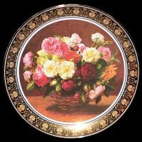 """Настенные тарелки """"Букет роз"""""""